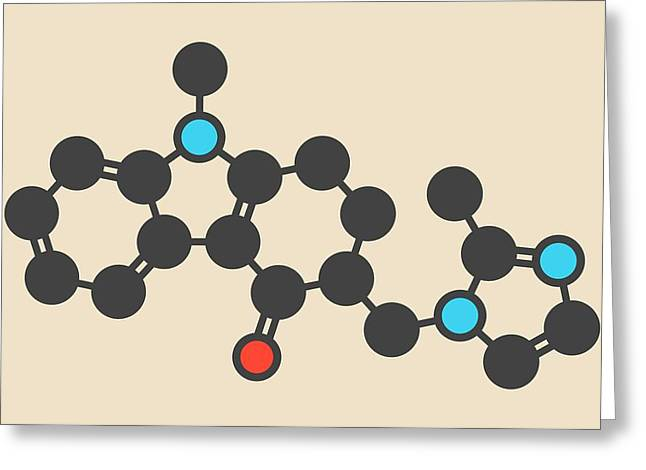 Ondansetron Drug Molecule Greeting Card