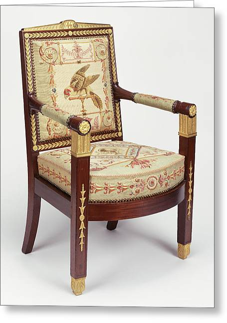 One Armchair Frames Attributed To François-honoré-georges Greeting Card