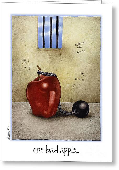 One Bad Apple... Greeting Card by Will Bullas