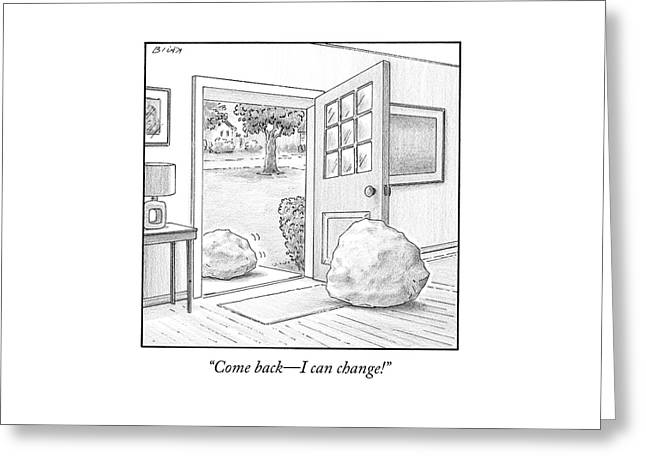One Boulder Speaks To Another Boulder That Greeting Card