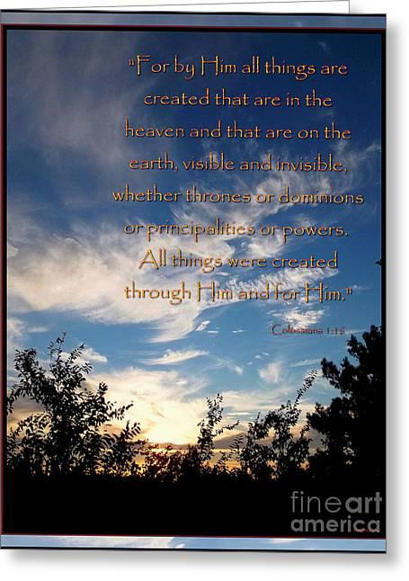 One Creator - Origins Greeting Card