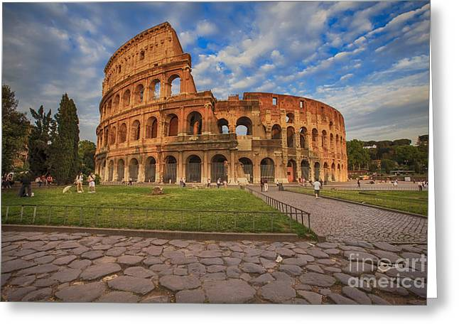 One Day In Rome Greeting Card by Maria Feklistova