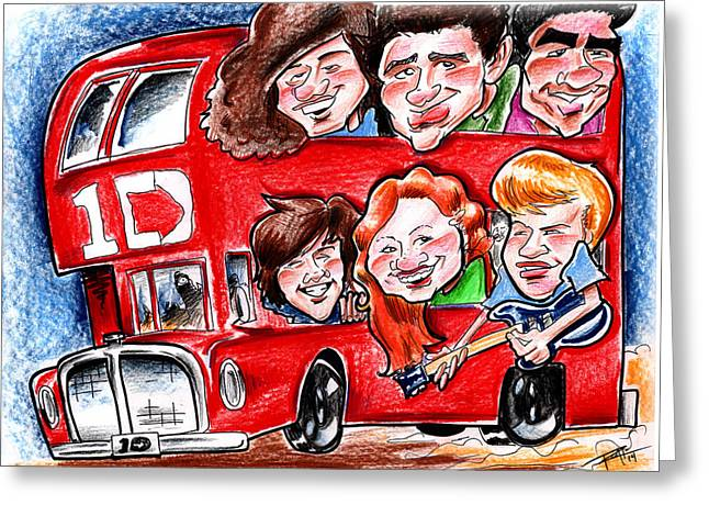 One Direction Greeting Card by Big Mike Roate