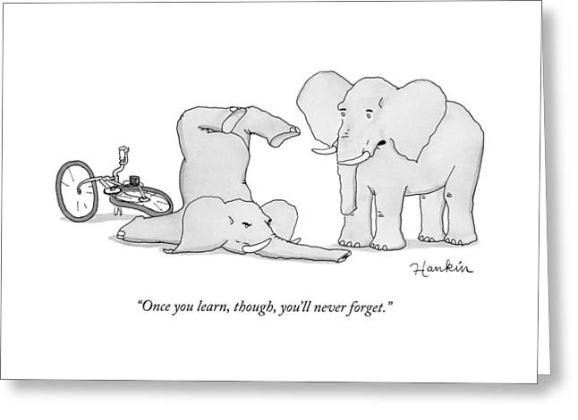 One Elephant Says To Another Elephant Who Greeting Card