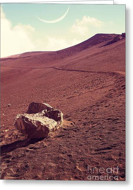 One Fine Day On The Red Planet Greeting Card by Edward Fielding