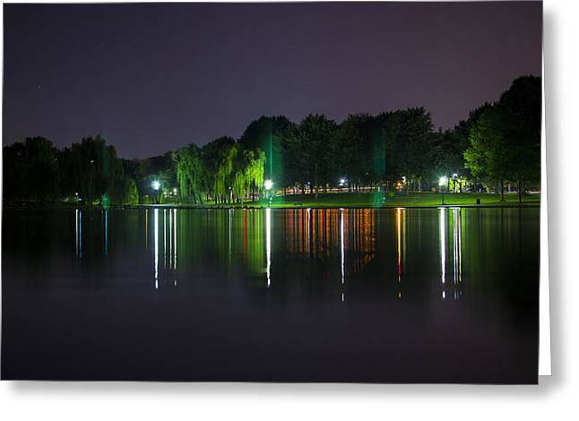 One Foot Lake Greeting Card by Michael Williams
