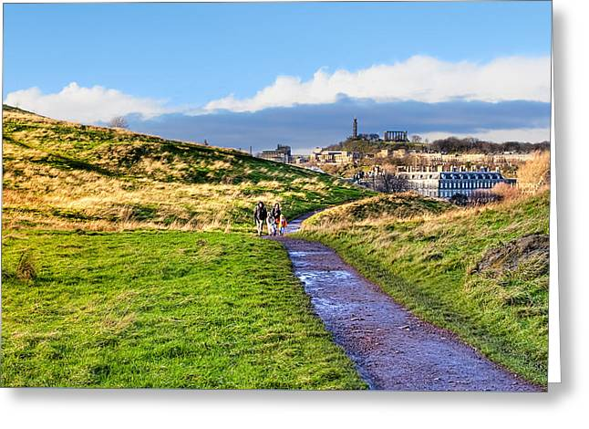 One Golden Day In Edinburgh's Holyrood Park Greeting Card by Mark E Tisdale