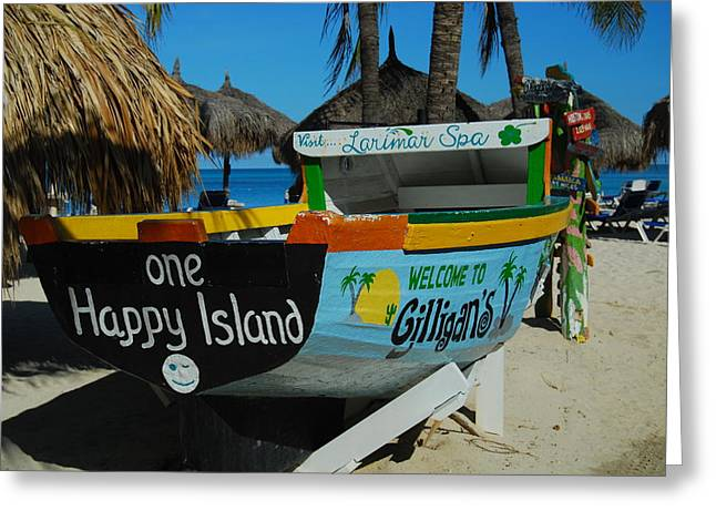 One Happy Island Greeting Card