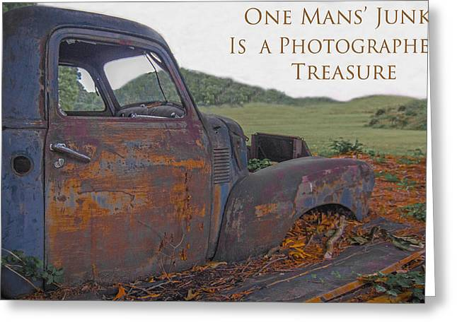 Greeting Card featuring the photograph One Mans' Junk by Marion Johnson