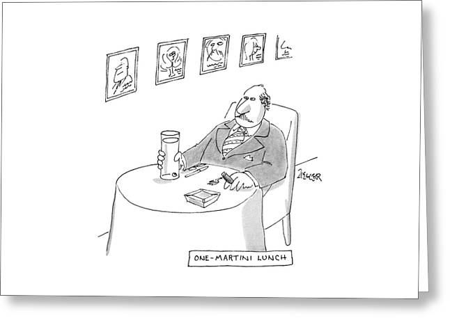 One-martini Lunch Greeting Card