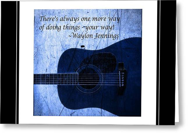 One More Way - Waylon Jennings Greeting Card