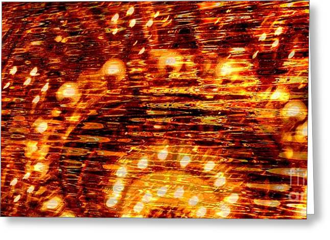 One Night In Paris - Abstract Art Greeting Card by Carol Groenen