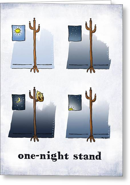 One Night Stand Greeting Card by Mark Armstrong