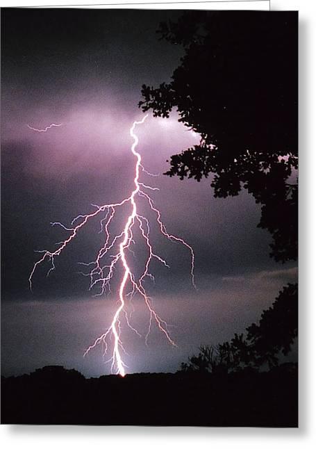 One Of Many Lightning Strikes Greeting Card