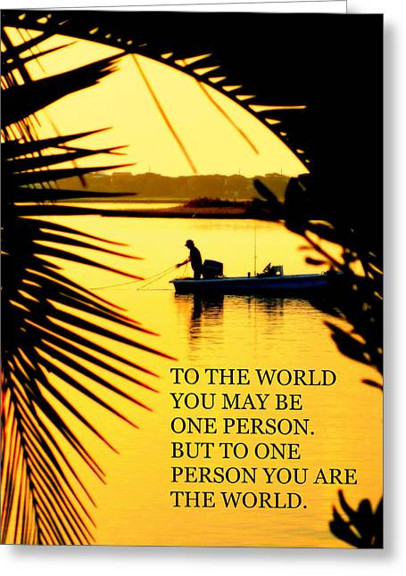 One Person Greeting Card by Karen Wiles