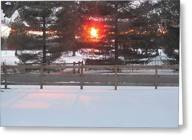 One Rare Winter Sunset Greeting Card