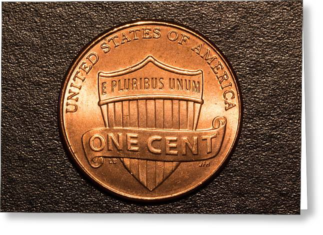 One Red Cent Greeting Card by S Cass Alston