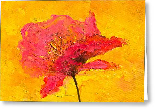 One Red Poppy Greeting Card