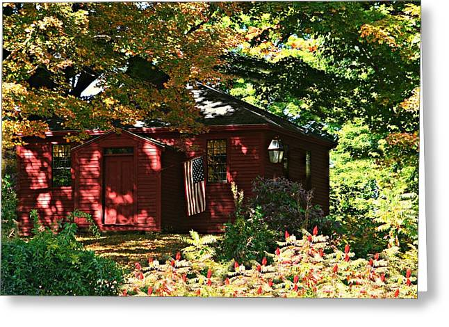 One Room School House Greeting Card by Barbara S Nickerson