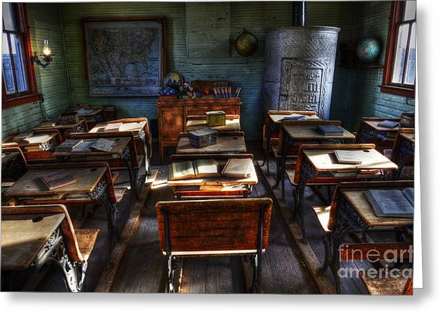 One Room School House Greeting Card by Bob Christopher