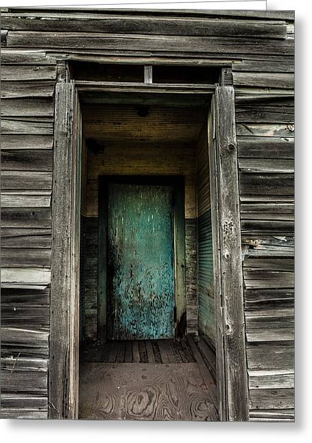 One Room Schoolhouse Door - Damascus - Pennsylvania Greeting Card