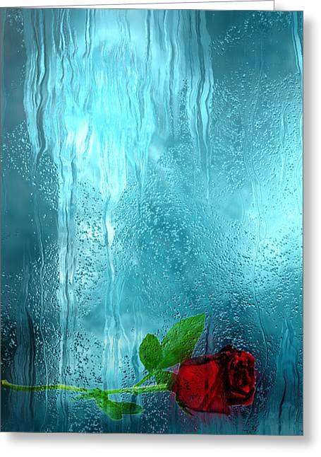 One Rose Left Greeting Card by Jack Zulli