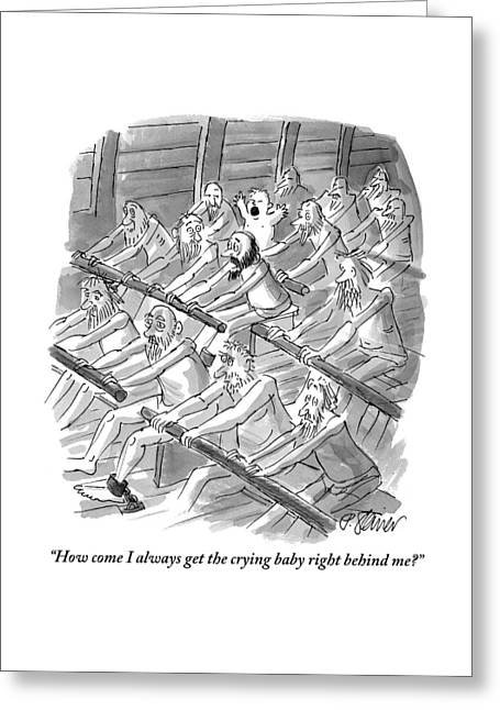 One Rower To Another On A Slave Ship Greeting Card