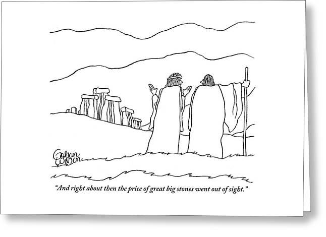 One Shepherd To Another As They Pass Stonehenge Greeting Card