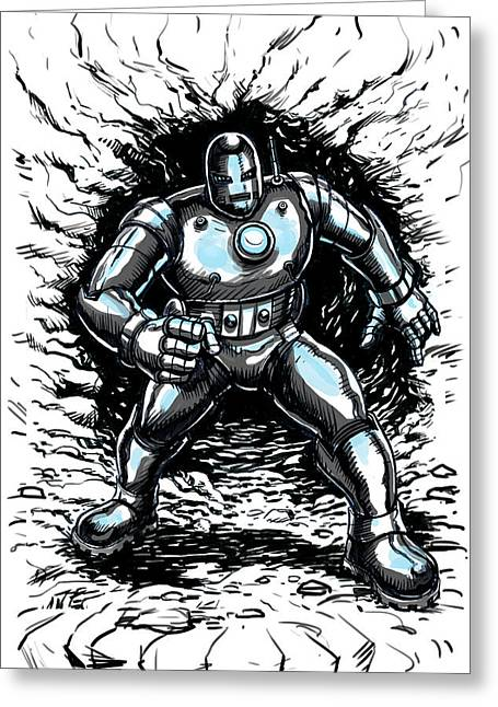 One Small Step For Iron Man Greeting Card