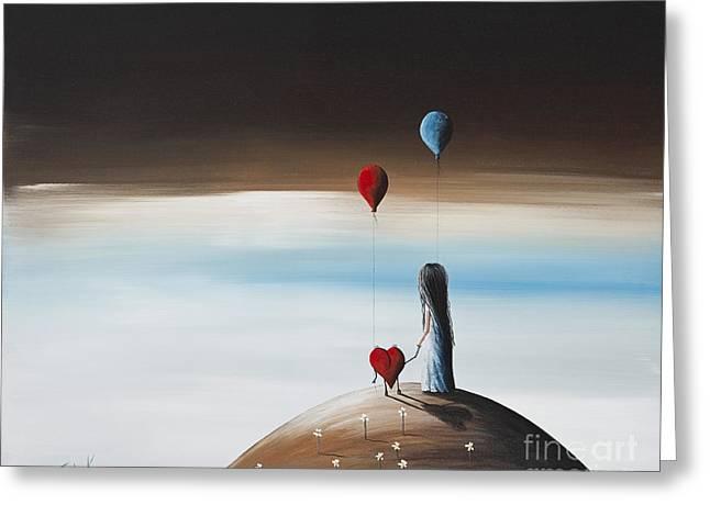 One Step To Heaven By Shawna Erback Greeting Card by Shawna Erback