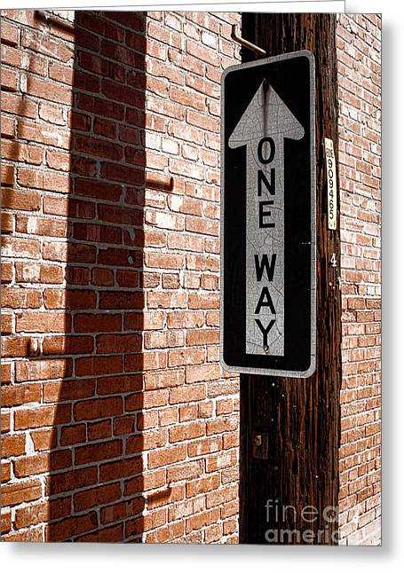 One Way Greeting Card by Lawrence Burry