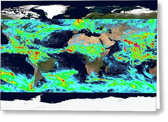 One Week Accumulated Global Precipitation Greeting Card by Nasa's Scientific Visualization Studio