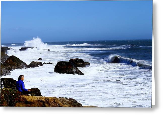 Greeting Card featuring the photograph One With The Ocean by Theresa Ramos-DuVon