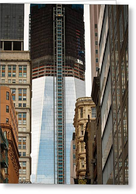Greeting Card featuring the photograph One World Trade Center #2 by Ann Murphy
