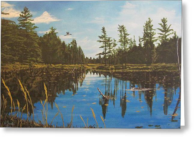 O'neal Lake Greeting Card by Wendy Shoults