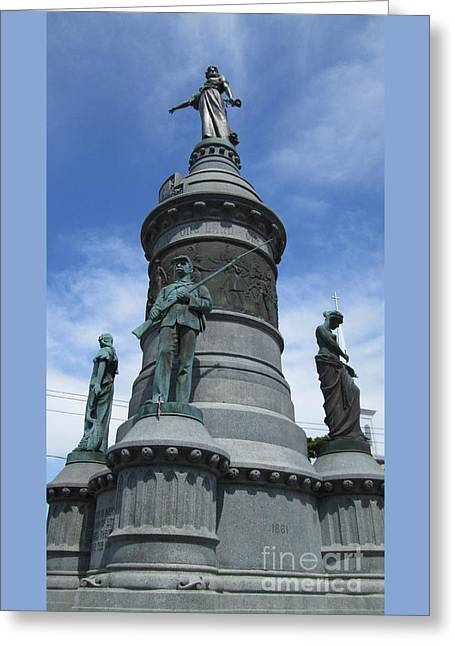 Oneida Square Civil War Monument Greeting Card by Peter Gumaer Ogden