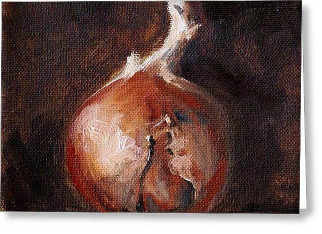 Onion Still Life Greeting Card