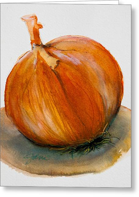 Onion Study Greeting Card by Jani Freimann