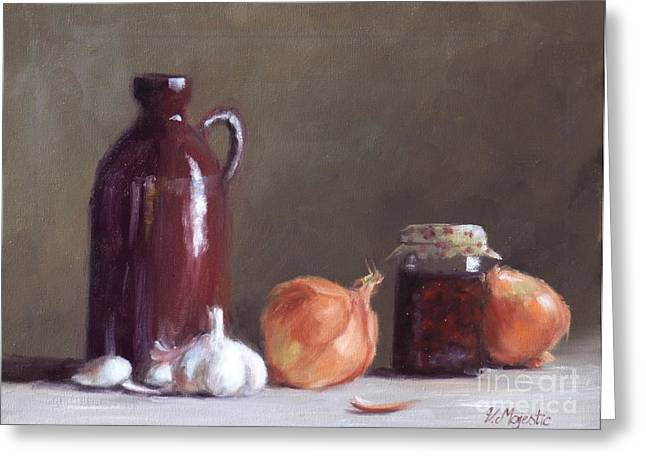 Onions And Sundried Tomatoes Greeting Card