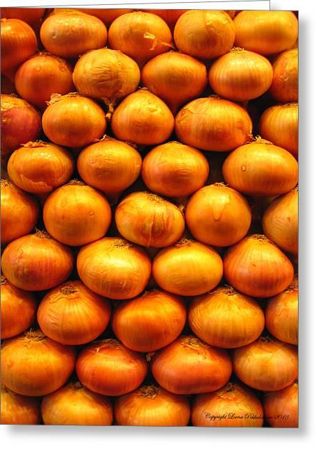 Onions Greeting Card by Leena Pekkalainen