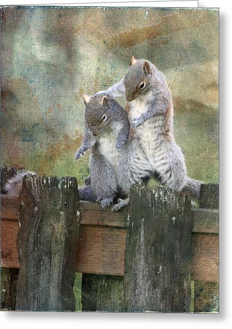 Only A Squirrel Knows Greeting Card