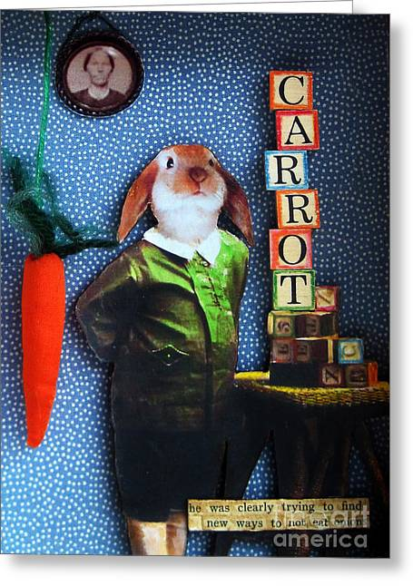 Only Carrots   Greeting Card by Linda Apple