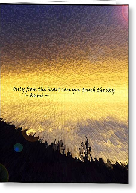 Only From The Heart Greeting Card by Anne Mott