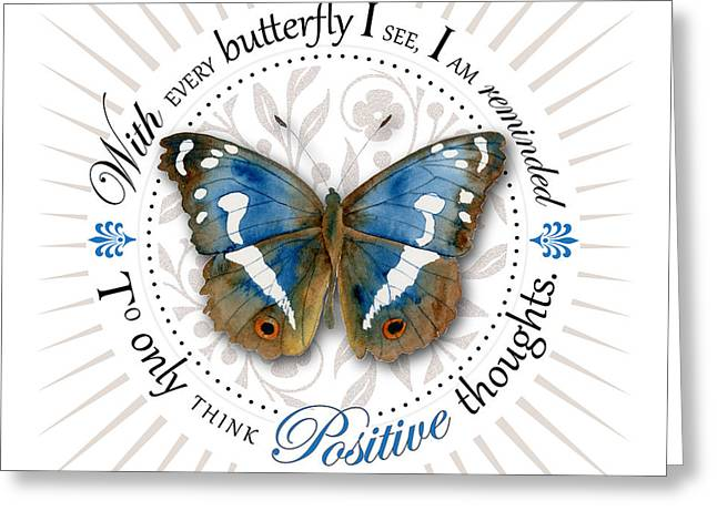 Only Think Positive Thoughts Greeting Card by Amy Kirkpatrick