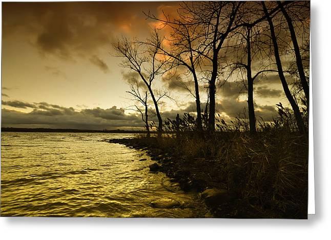 Onondaga Lake Sunset Greeting Card by Stuart Gallagher