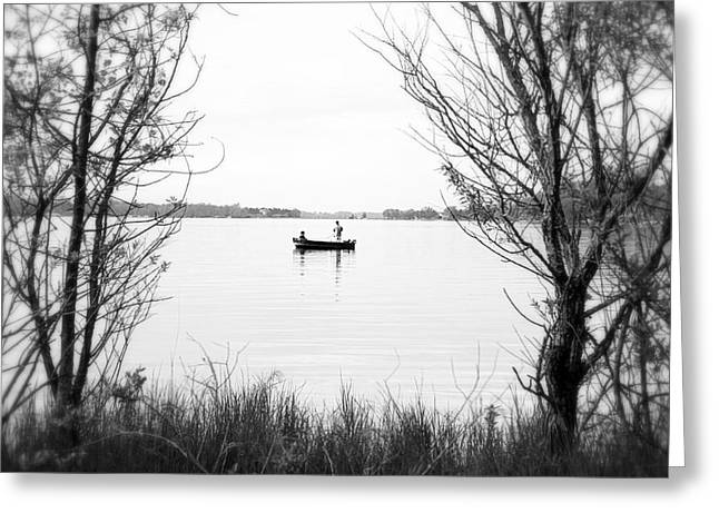 Ontario Fishing Trip Greeting Card by Valentino Visentini