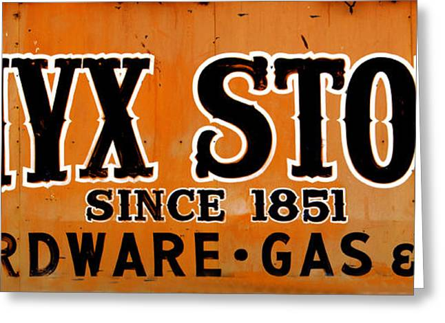 Onyx Store Since 1851 Greeting Card by Barbara Snyder