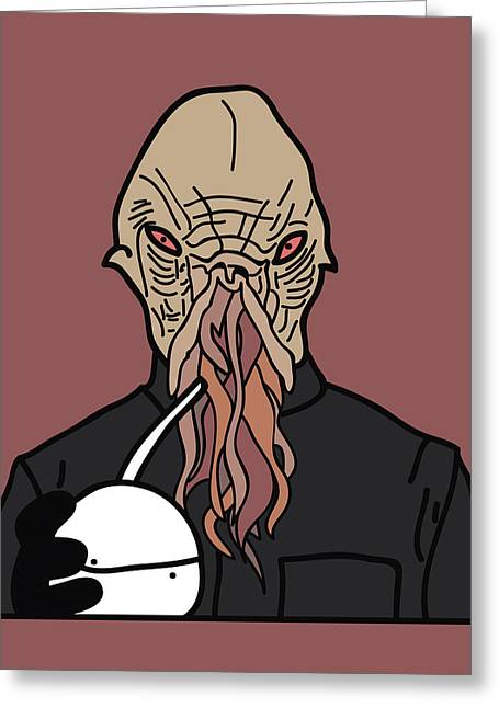 oOd Greeting Card by Jera Sky