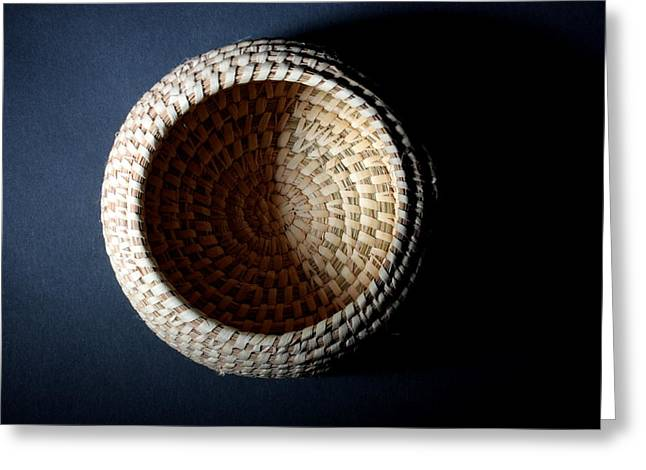 Greeting Card featuring the photograph Oodham Basket by Joe Kozlowski
