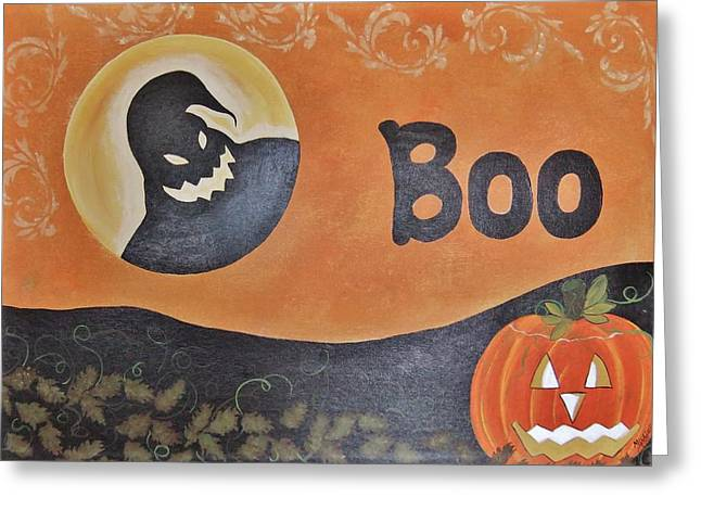 Oogie Boogie Boo Greeting Card by Cindy Micklos